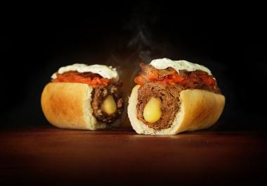 Burger dog